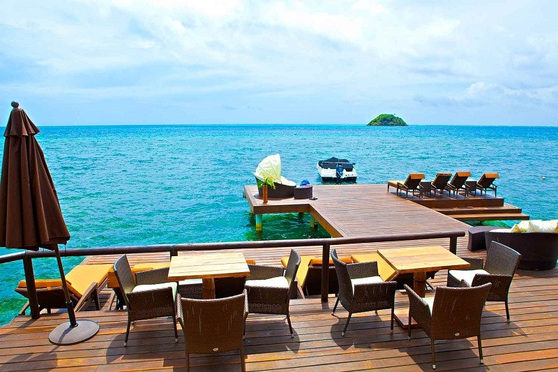 Our restaurant's deck...