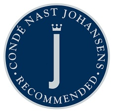 Proud to be recommended by Conde Naste Johansens
